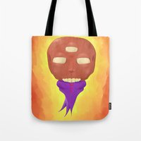 ohm Tote Bags featuring ohm by Jamie Ross