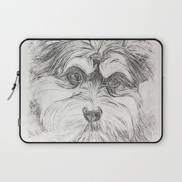 "Pencil Sketch ""Sophie"" our Puppy Laptop Sleeve"