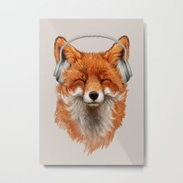 The Musical Fox Metal Print