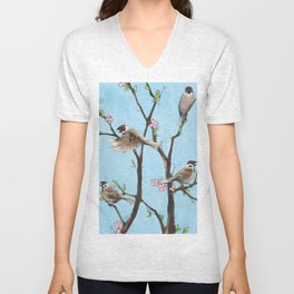 Sparrows Unisex V-Neck