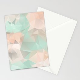 SERENITY & ROSE QUARTZ LOWPOLY Stationery Cards