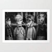 dragons Art Prints featuring DRAGONS by TOM MARGOL