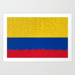 Extruded flag of Columbia Art Print