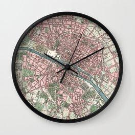 Vintage Map of Paris France (1821) Wall Clock