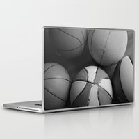 basketball Laptop & iPad Skins featuring Basketball by Sary and Saff