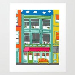 Colorful Building by Emma Freeman Designs Art Print