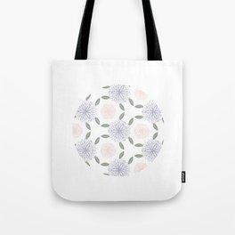 Floral circle Tote Bag