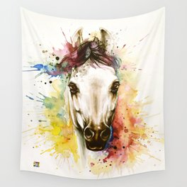 """""""Into the mirror"""" n°2 The horse Wall Tapestry"""