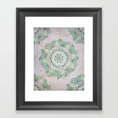 Spring Rain Mandala Framed Art Print