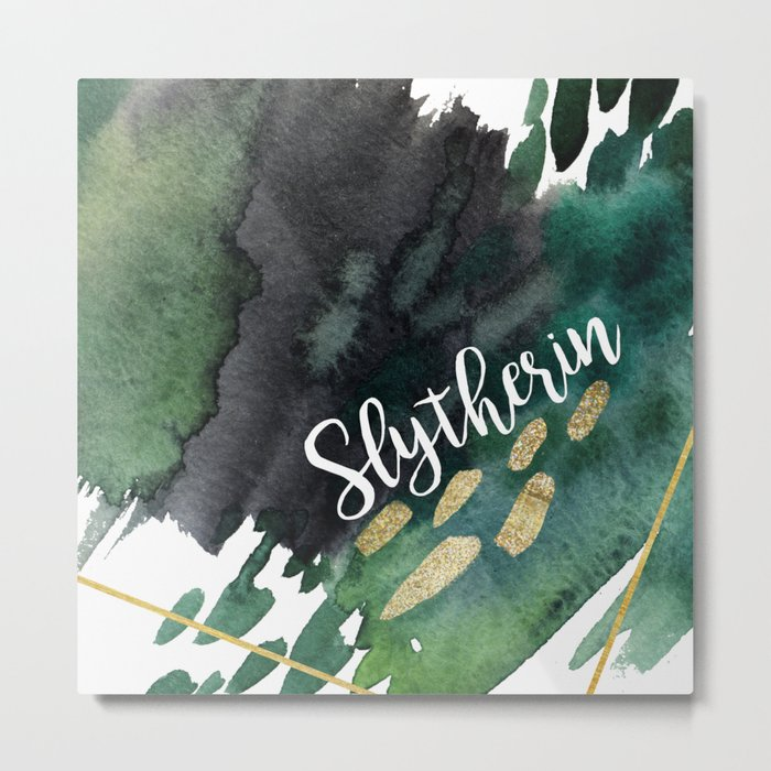Slytherin Green Metal Print