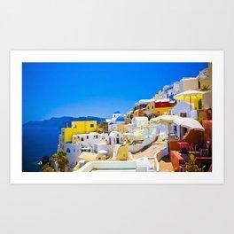 Amazing Santorini Art Print