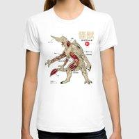 anatomy T-shirts featuring Kaiju Anatomy by MeleeNinja