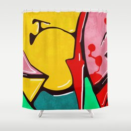 In the street No3 Shower Curtain