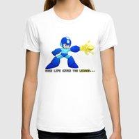 mega man T-shirts featuring Mega Man Lemons by RetroGamerJay