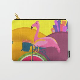 Flamingos Day Out Carry-All Pouch