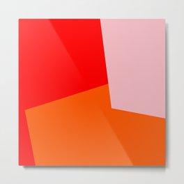 red orange pink Metal Print