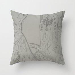 Tree Notch Throw Pillow