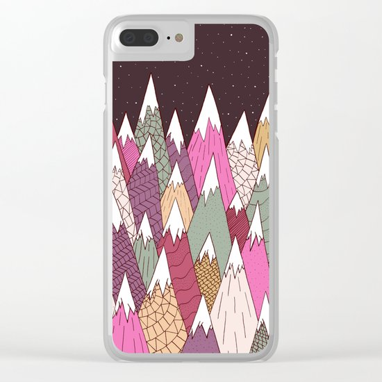 Woodland Warmth Clear iPhone Case
