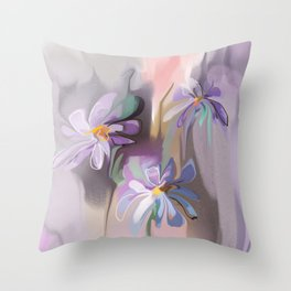 camomiles Throw Pillow