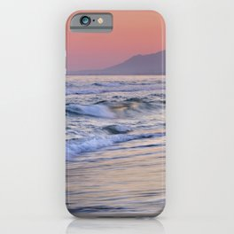 Sunrays Through The Waves. Purple Sunset Marbella. iPhone Case