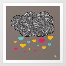 Cloud of love Art Print