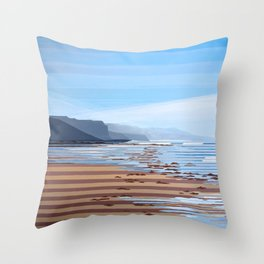Jalama Beach Landscape Throw Pillow
