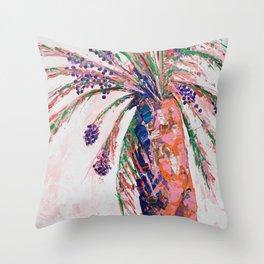 Desert Palm Tree Throw Pillow