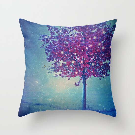 SONG OF THE WINTERBIRD Throw Pillow