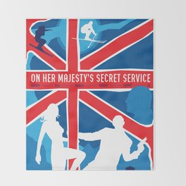 James Bond Golden Era Series :: On Her Majesty's Secret Service Throw Blanket