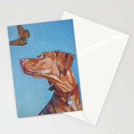 VIZSLA dog art portrait from an original painting by L.A.Shepard Stationery Cards
