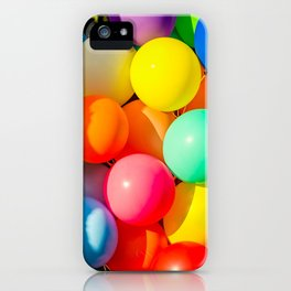 Colorful Toy Balloons iPhone Case