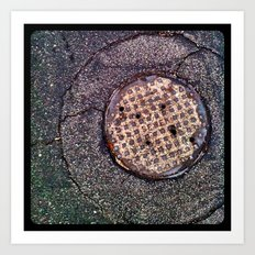 The sewer. Art Print