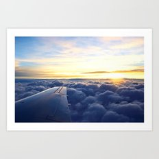 Sunrise Above the Clouds Art Print