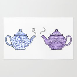 Patterned Teapots Rug