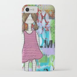 Playful in Pink iPhone Case