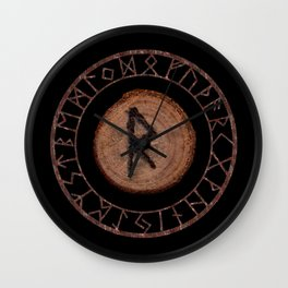 Raidho Elder Futhark Rune Travel, journey, vacation, relocation, evolution, change of place Wall Clock