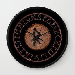 Raidho Elder Futhark Rune Travel, journey, vacation, relocation, evolution, change of place Wall Clock