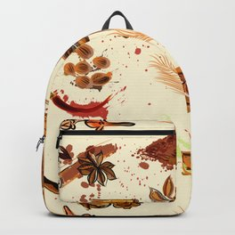World of spices. Vector design Backpack