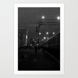 Five O'Clock Stop Art Print