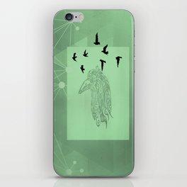 Tribal Raven: Green iPhone Skin