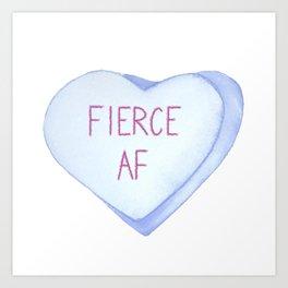 Fierce AF Valentine's Day Candy Heart Art Print