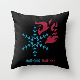Half-Cold Half-Hot V2 Throw Pillow