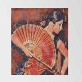 Flamenco Dancer Throw Blanket