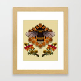 The Bumble Bee & his Honeycomb Framed Art Print