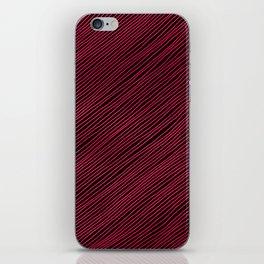 Stripes - Red iPhone Skin