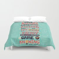 risa rodil Duvet Covers featuring Read Books by Risa Rodil