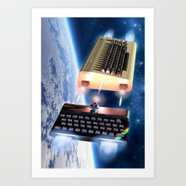 Commodore 64 vs Sinclair ZX Spectrum Art Print