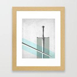 SWORD FIGHT Framed Art Print