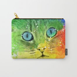 Abstract Bright Cat Carry-All Pouch