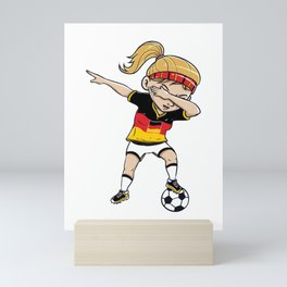 Dabbing Soccer Player Funny Germany Fan graphic girl Mini Art Print